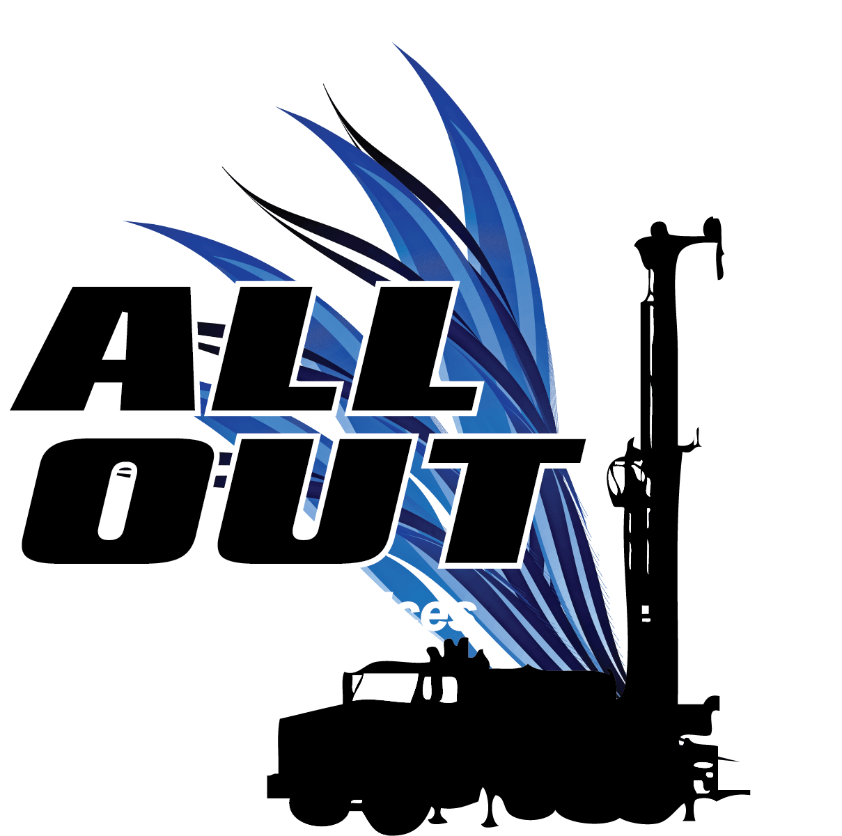 This is a photo of the All Out Drilling Logo