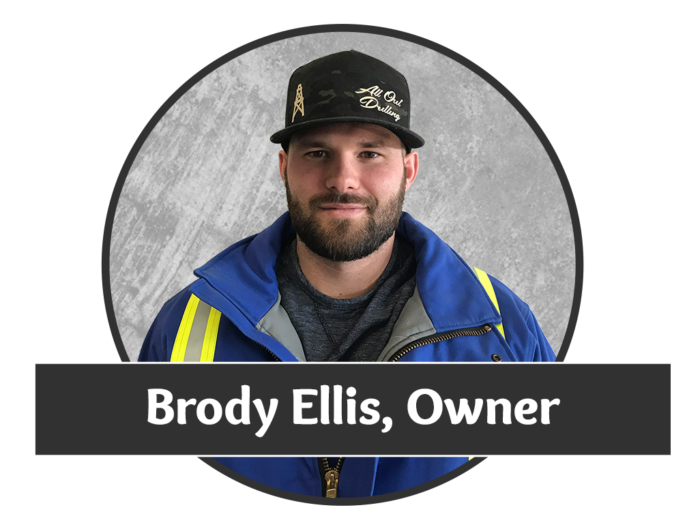 Headshot photo of Brody Ellis, owner of Saskatchewan's superior water well drilling company