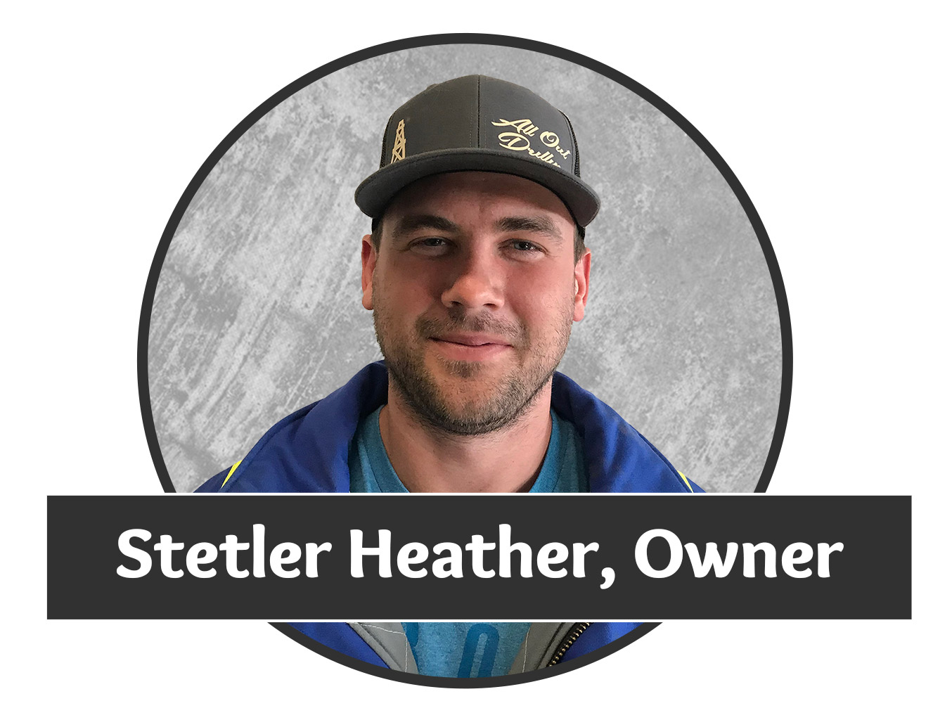 Headshot photo of Stetler Heather, one of the owners for Saskatchewan's superior water well drilling company.