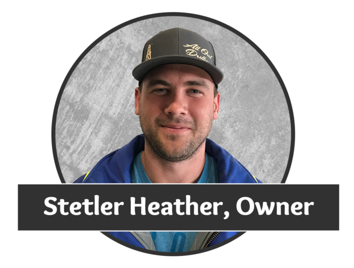 Headshot photo of Stetler Heather, owner of Saskatchewan's superior water well drilling company